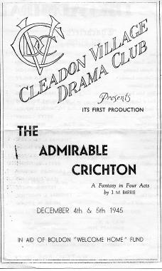 1945 The Admirable Crichton - The First Production!