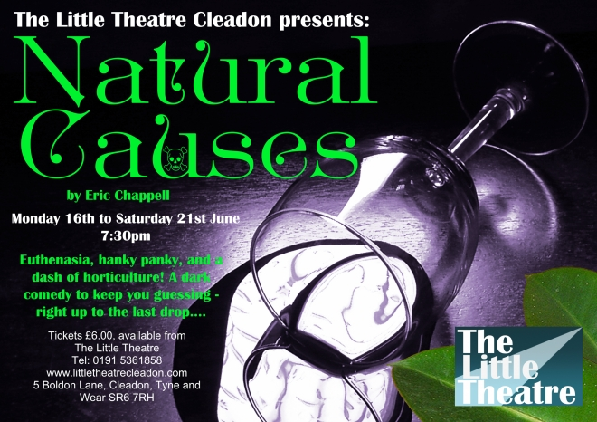 Natural Causes by Eric Chappell. Monday 16th to Saturday 21st June 2014